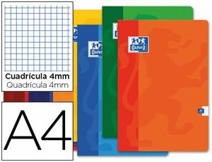 LIBRETA GRAPADA 4X4 MM A4 48 HJ 90 GR TB OXFORD COLORES