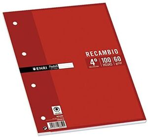 RECAMBIO 4X4 MM 4º ENRI 100 HJ 4 TAL 60 GR
