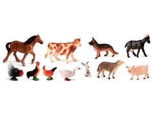 ANIMALES GRANJA MINILAND 11 PIEZAS