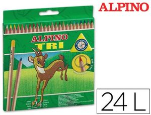 LAPICES COLORES ALPINO TRI ESTUCHE 24 COLORES SURTIDOS
