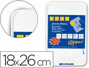 PIZARRA BLANCA CLIPPER PEQUEÑA 18X26 CM + ROTULADOR