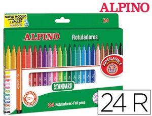 ROTULADOR ALPINO STANDARD ESTUCHE 24 COLORES
