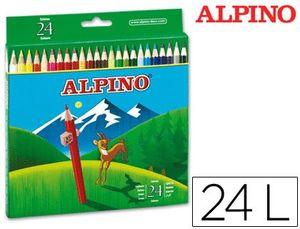 CAJA 24 LAPICES ALPINO COLORES SURTIDOS