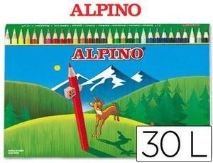 CAJA 30 LAPICES COLORES ALPINO 659