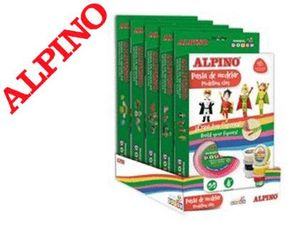 PASTA ALPINO PARA MODELAR MAGIC DOUGH EXPOSITOR DE 5 SETS SURTIDOS