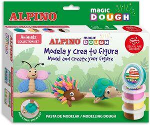 SET ALPINO MAGIC DOUGH ANIMALS 160 G 9 COLORES
