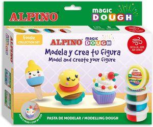 SET ALPINO MAGIC DOUGH FODIE 160 G 7 COLORES