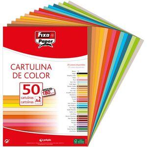 PAQUETES 100 CARTULINAS A4 180 GR ROJO
