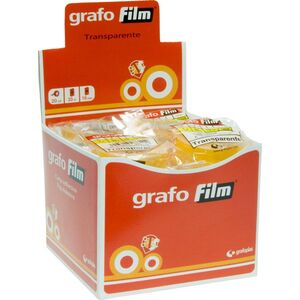 BOLSA ROLLO GRAFOFILM 12X33 MM TRANSPARENTE