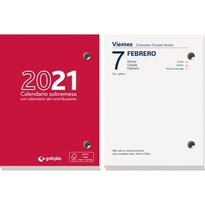 TACO CALENDARIO ANUAL SOBREMESA 8,3X11 CM 2021