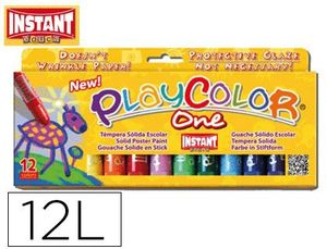 TEMPERA INSTANT PLAY COLOR ONE 10 GR ESTUCHE 12 COLORES