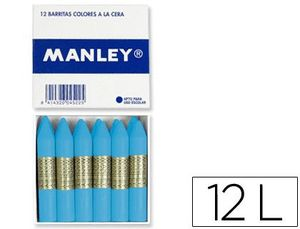 LAPICES DE CERA MANLEY UNICOLOR CELESTE CLARO CAJA DE 12 N.41