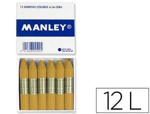 PAQUETE 12 CERAS MANLEY OCRE