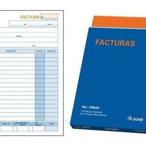 TALONARIO FACTURAS A4 DUPLICADO