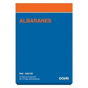 TALONARIO ALBARANES A4 DUPLICADO