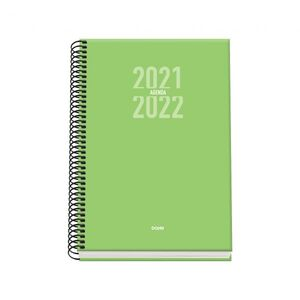 AGENDA ESPIRAL ESCOLAR SEMANA VISTA A5 SIGMA VERDE 2021/2022
