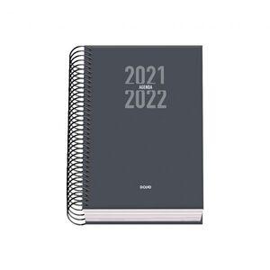 AGENDA ESPIRAL ESCOLAR DIA PAGINA A6 SIGMA GRIS 2021/2022
