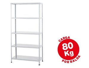 ESTANTERIA METALICA AR STORAGE 180X90X40 CM 5 ESTANTES 80 KG POR ESTANTE COLOR BLANCO