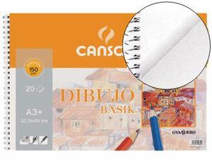 BLOCK DIBUJO CANSON BASIK A3 20HJ 150 GR