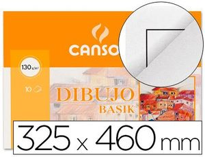 PAPEL DIBUJO BASIK DIN A3 + 32,5X 46,0 CMS CON RECUADRO EN MINIPACKS DE 10 HOJAS