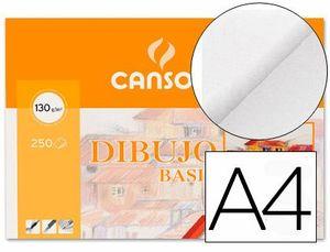 MINIPACK LAMINA DIBUJO CANSON BASIK A4 LISO 10 HJ 130 GR