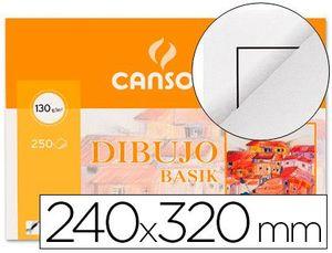 MINIPACK LAMINA DIBUJO CANSON BASIK A4 CON RECUADRO 10 HJ 130 GR