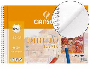 BLOCK DIBUJO CANSON BASIK A4 LISO 20 HJ 130 GR