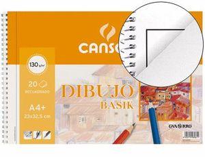 BLOCK DIBUJO CANSON BASIK A4 RECUADRO 2 TAL 20 HJ 130 GR