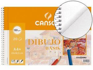 BLOCK DIBUJO CANSON BASIK A4+ LISO MICROPERFORADO 2 TAL 20 HJ 130 GR