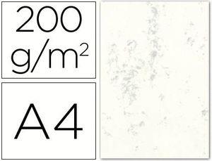 CARTULINA MARMOLEADA A4 200 GR GRIS PAQ 100 HJ