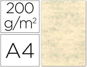 CARTULINA MARMOLEADA A4 200 GR CREMA CLARO PAQ 100 HJ