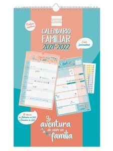 CALENDARIO PARED FAMILIAR 16M FINOCAM AVENTURA BASIC 2021/2022