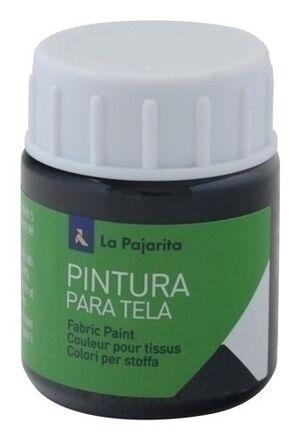 PINTURA TELA OPACA LA PAJARITA 35 ML NEGRO TO-18