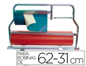 PORTARROLLO MOSTRADOR CORTA PAPEL BOBINAS 62-31 CM