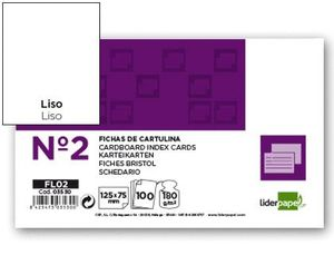 FICHA LISA Nº 2 75X125 P-100