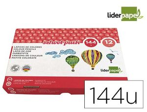 CLASS PACK 144 LAPICES LIDERPAPEL SCHOOL