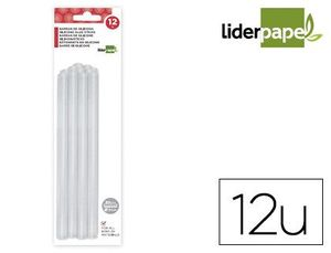 BLISTER 12 BARRAS TERMOFUSIBLE LIDERPAPEL 7 MM X 200 MM
