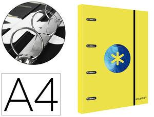 CARPETA 4A 40MM A4 ANTARTIK + RECAMBIO 5 MM TRENDING AMARILLA