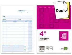 TALONARIO LIDERPAPEL ALBARAN CUARTO ORIG