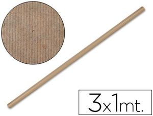 PAPEL KRAFT LIDERPAPEL MARRON ROLLO 3X1 M