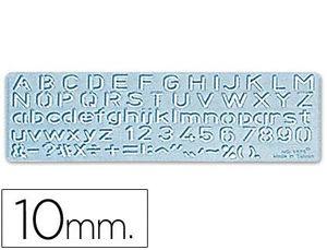 PLANTILLA ROTULACION 1575 -LETRAS Y NUMEROS DE 10 MM
