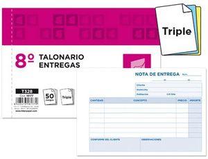 TALONARIO LIDERPAPEL ENTREGAS 8º TRIPLE APAISADO
