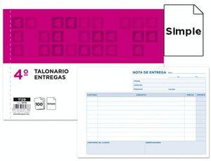 TALONARIO LIDERPAPEL ENTREGAS CUARTO ORIGINAL T129 APAISADO
