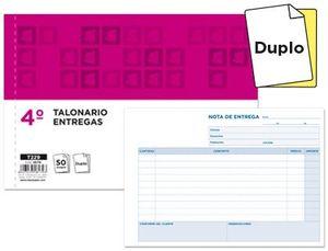 TALONARIO LIDERPAPEL ENTREGAS CUARTO ORIGINAL Y COPIA T229 APAISADO