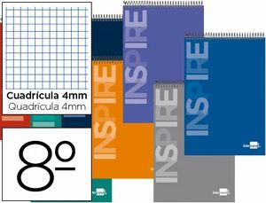 BLOC ESPIRAL INSPIRE BOLSILLO 8º 4MM 60 GR