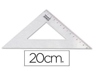 ESCUADRA LIDERPAPEL 20 CM PLASTICO CRISTAL