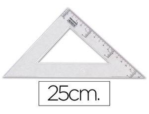 ESCUADRA LIDERPAPEL 25 CM PLASTICO CRISTAL