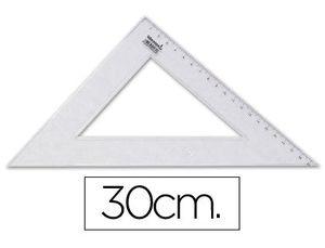 ESCUADRA LIDERPAPEL 30 CM PLASTICO CRIST