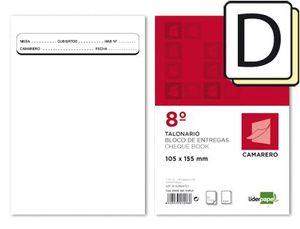TALONARIO LIDERPAPEL CAMARERO 8º ORIGINAL Y COPIA TL13