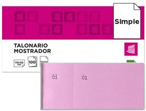 TALONARIO CAJA 50X110 MM ROSA